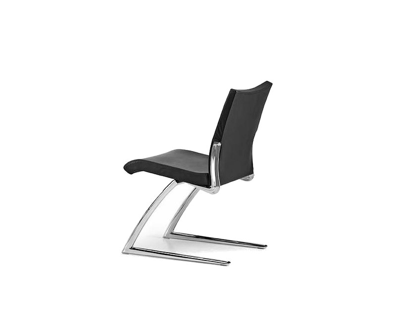 Cantilever upholstered leather reception chair AVIA 4050 by TALIN