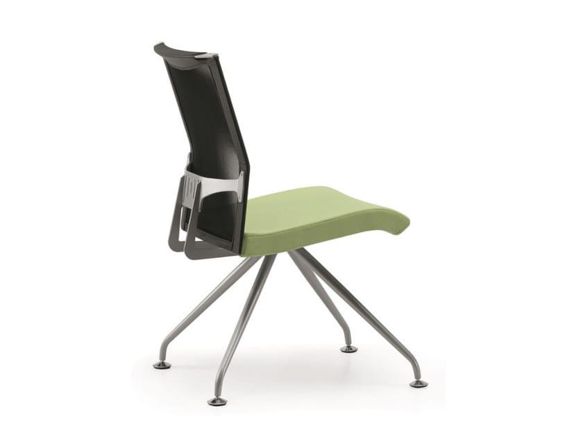 Sedia ergonomica su trespolo in rete per sale d'attesa AVIANET 3645 by TALIN
