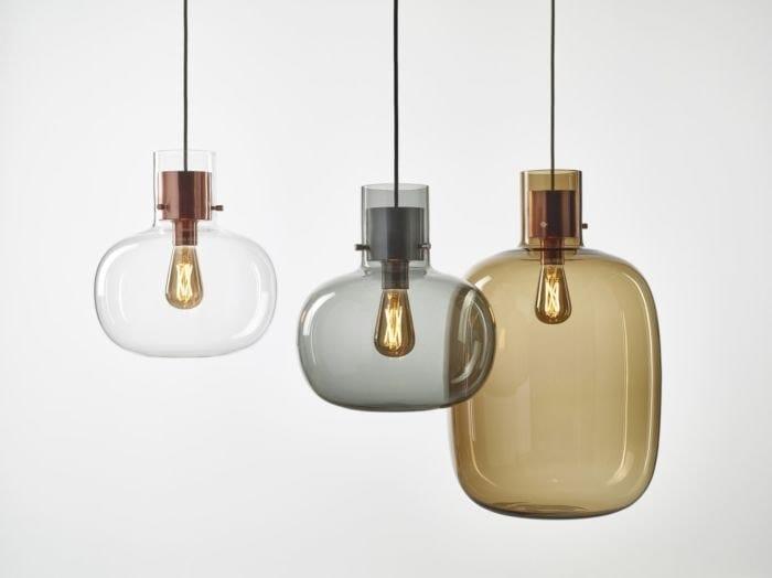 Blown glass pendant lamp AWA by BROKIS