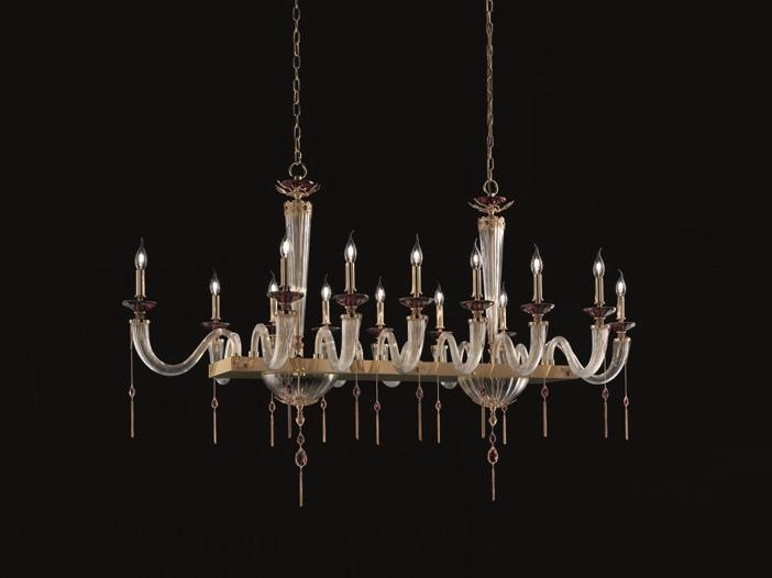 Beautiful Chandelier With Swarovski® Crystals JULIENNE AXIS 14 By Euroluce Lampadari