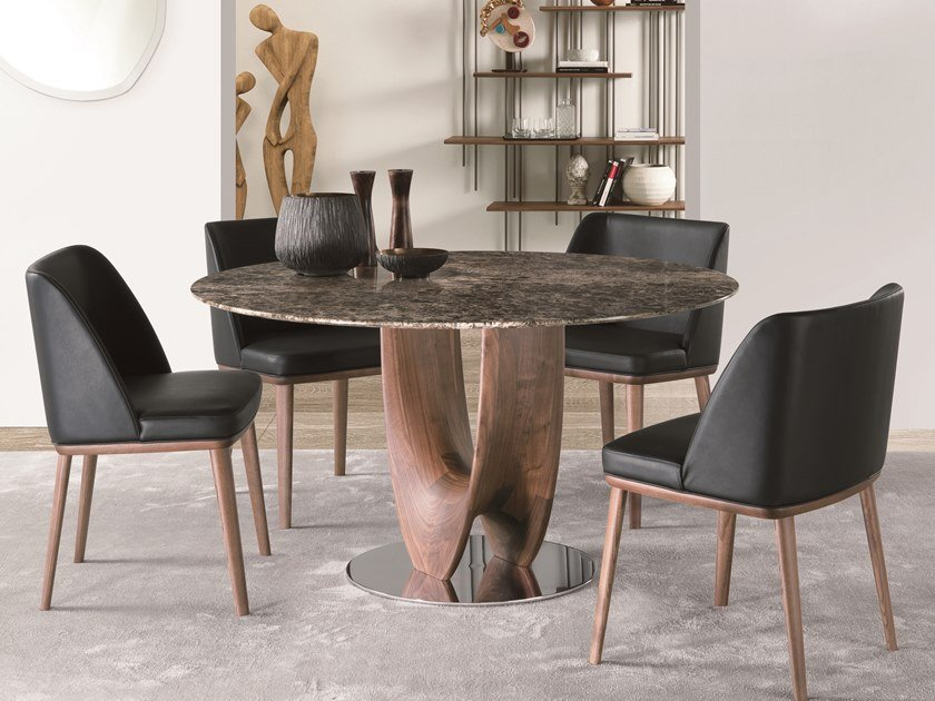 Round marble table AXIS | Marble table by Pacini & Cappellini