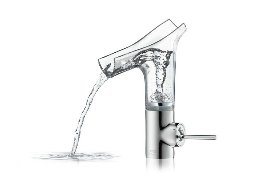 Countertop glass washbasin mixer AXOR STARCK V | Washbasin mixer by hansgrohe