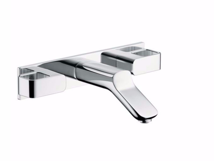 3 hole wall-mounted washbasin tap AXOR URQUIOLA - 168 mm by hansgrohe