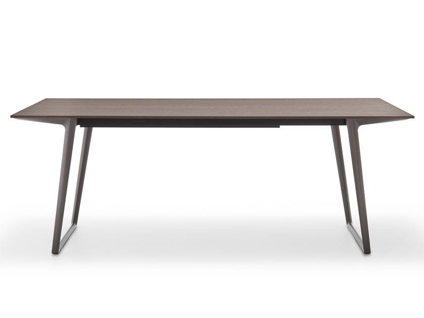 Extending rectangular oak table AXY   Oak table by MDF Italia