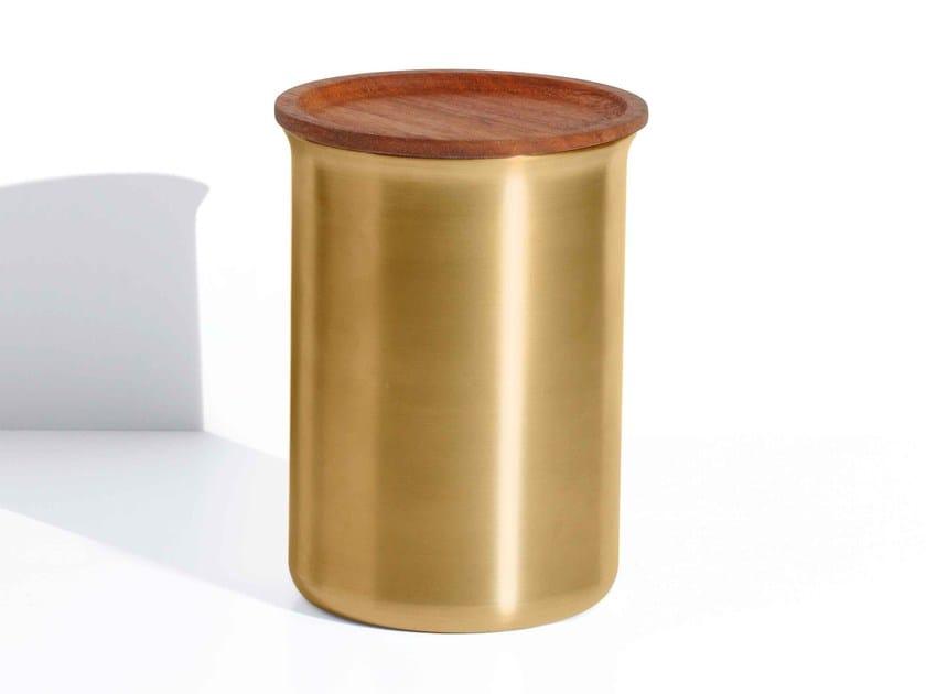 Food-storage box AYASA | Brass food-storage box by Tiipoi