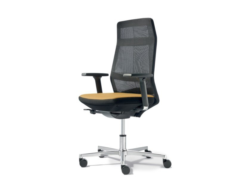 Swivel task chair with 5-Spoke base with armrests AYO | Task chair with 5-Spoke base by Wiesner-Hager