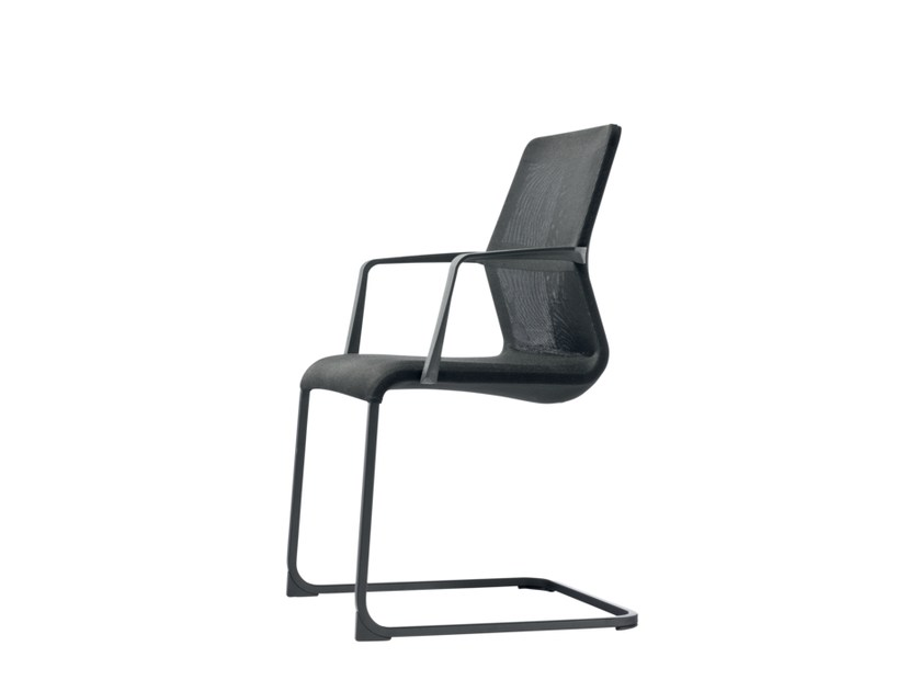 Cantilever fabric training chair with armrests AYO   Training chair by Wiesner-Hager