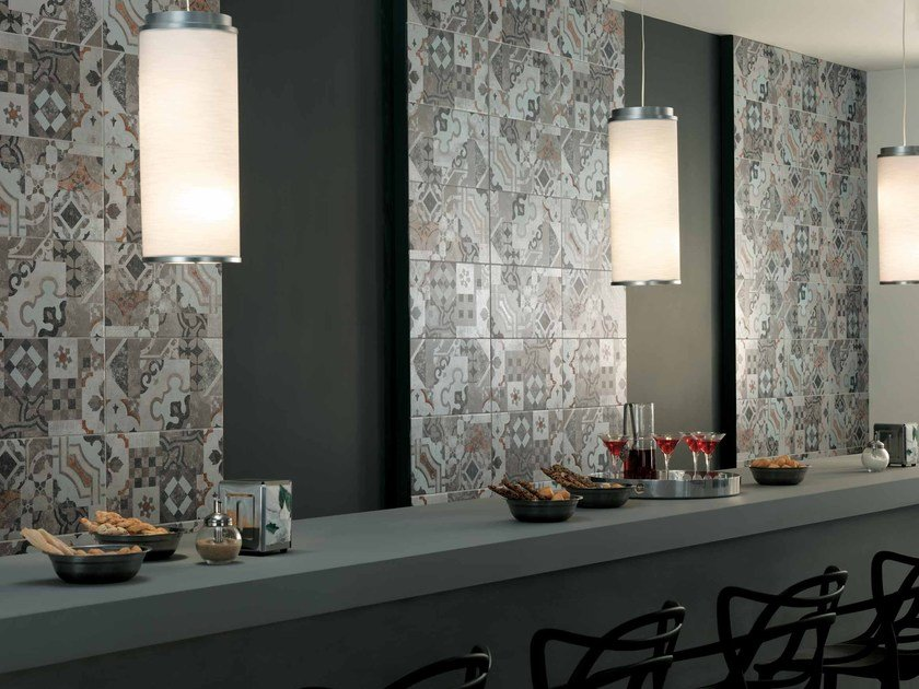 Wall/floor tiles with concrete effect AZIMUT PATCHWORK by NOVOCERAM