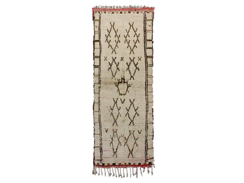 Long pile rectangular wool rug AZILAL TA674BE by AFOLKI