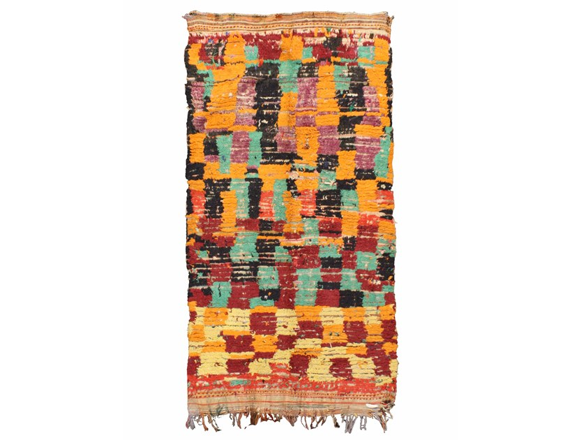Patterned long pile wool rug AZILAL TA918BE by AFOLKI