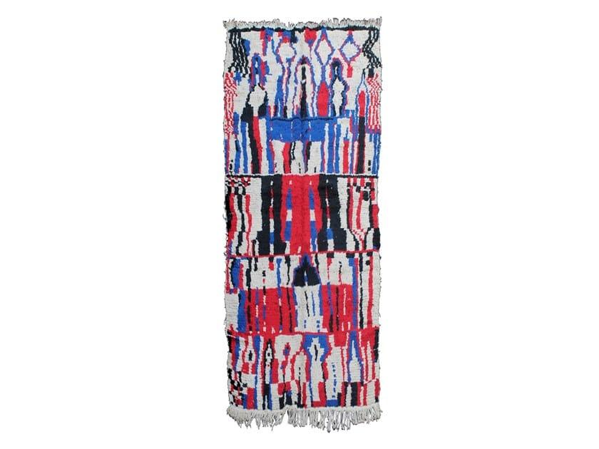 Long pile rectangular wool rug AZILAL TAA121BE by AFOLKI