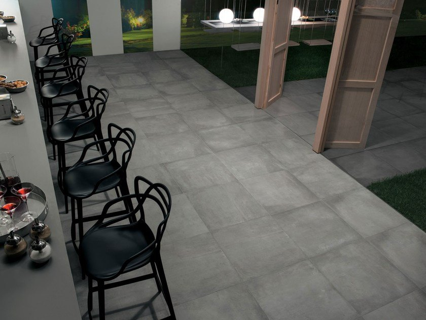 Wall/floor tiles with concrete effect AZIMUT FROID by NOVOCERAM