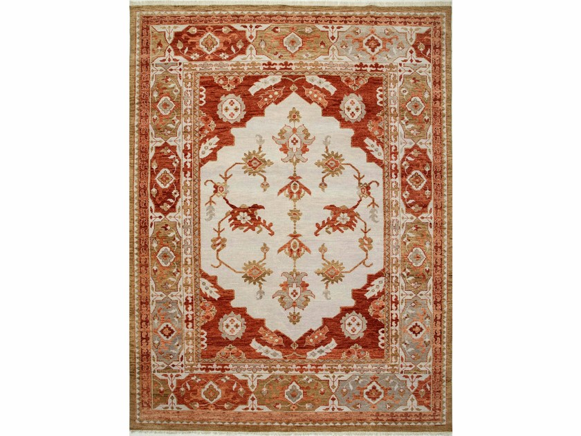 Wool rug AZRA LCA-2352 Antique White/Russet by Jaipur Rugs