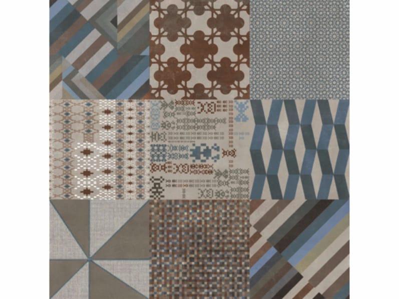Pavimento/rivestimento in gres porcellanato smaltato AZULEJ GRIGIO COMBINATION by Mutina