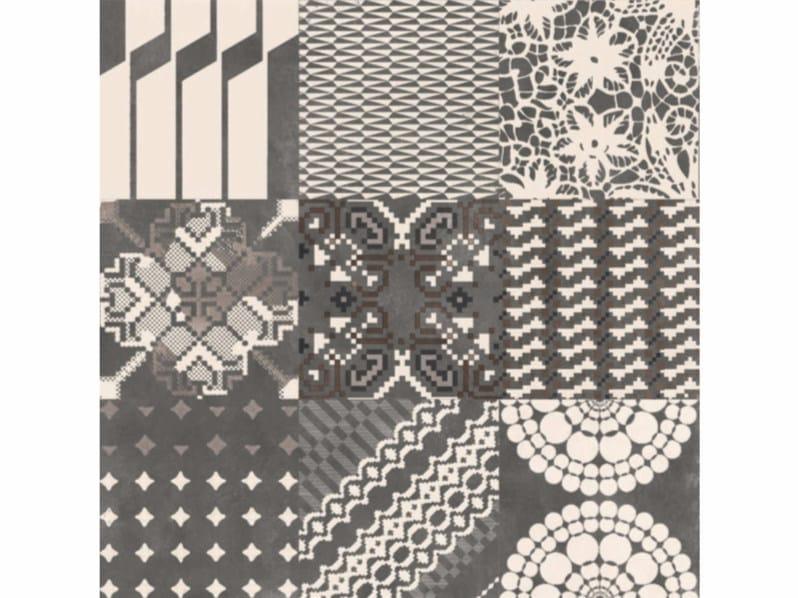 Glazed stoneware wall/floor tiles AZULEJ NERO COMBINATION by MUTINA