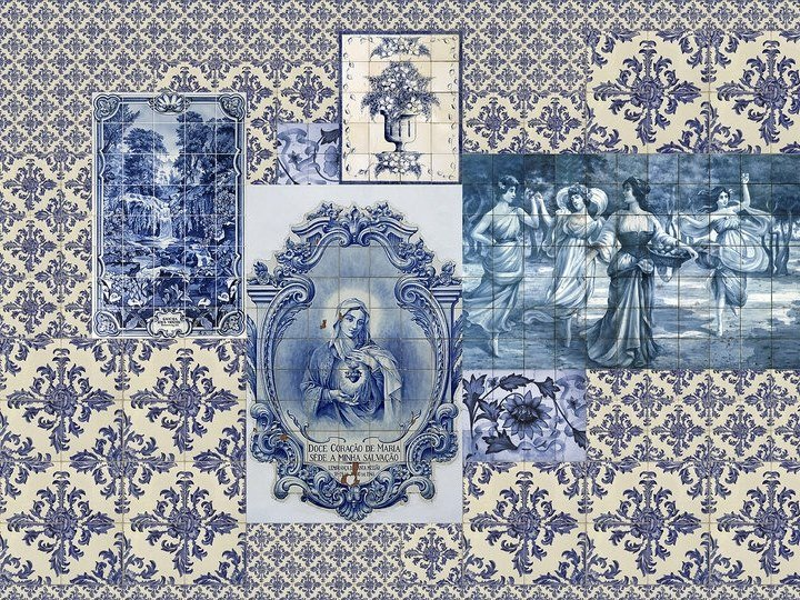 Digital printing wallpaper AZULEJOS by Architects Paper