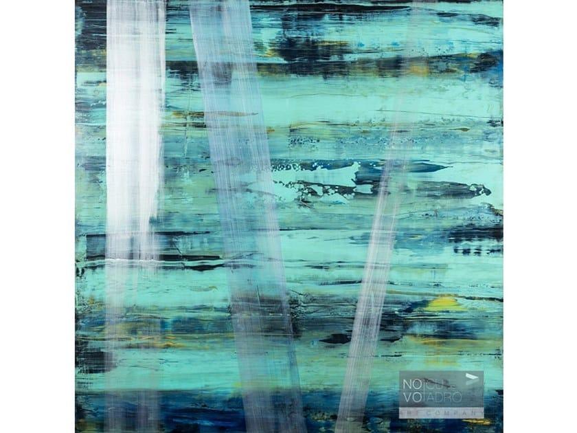 Wooden Painting Azules by NOVOCUADRO ART COMPANY