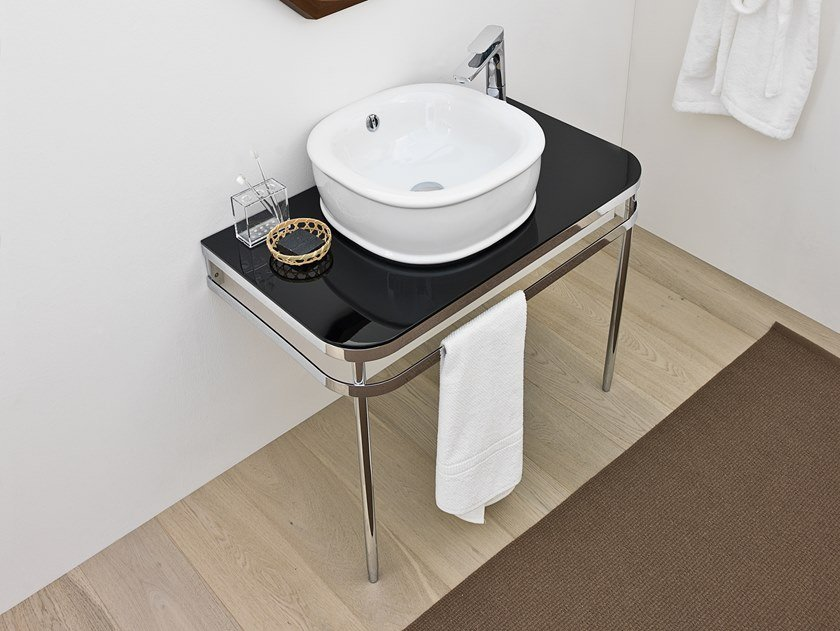 Console washbasin with towel rail AZULEY | Console washbasin by Artceram