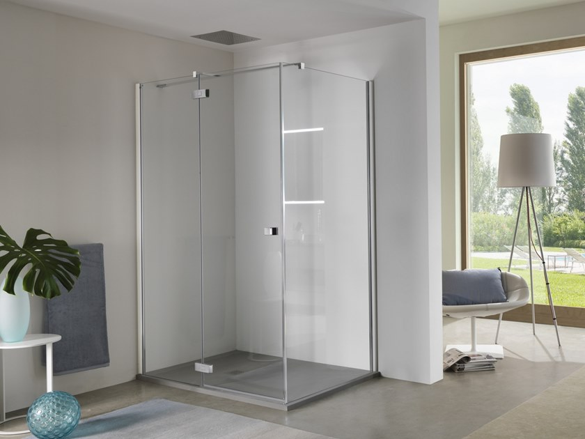 Pivot door with fixed element AZURE - 2 by INDA®