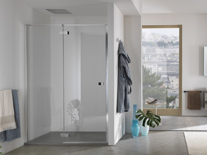 Pivot door with fixed element for niche AZURE - 6 by INDA®