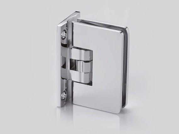 Brass Shower door hinge B-100 by Metalglas Bonomi