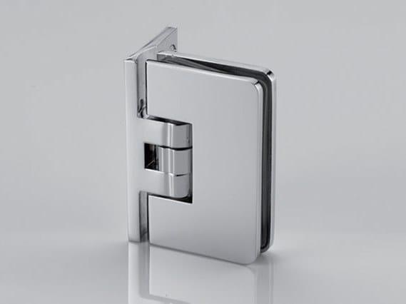 Brass Shower door hinge B-101 by Metalglas Bonomi