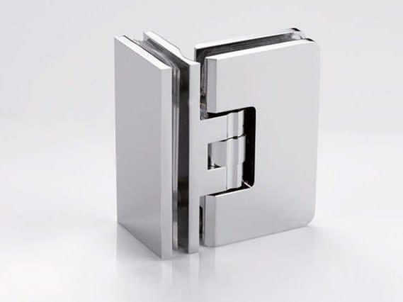 Brass Shower door hinge B-103 by Metalglas Bonomi