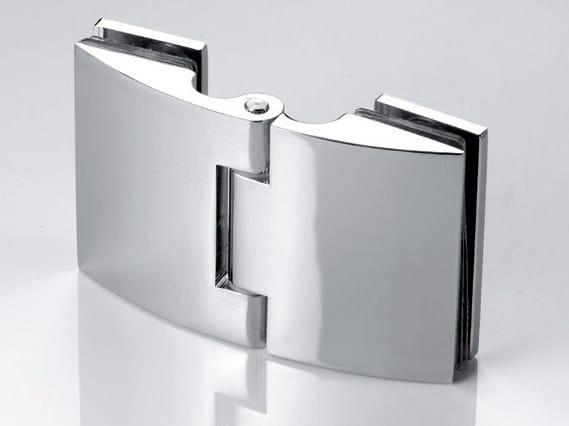 Zamak Shower door hinge B-104 by Metalglas Bonomi
