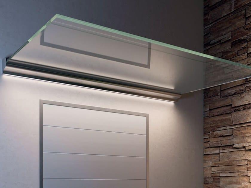 Glass door canopy B-1040 KAMPIONA 110 by Metalglas Bonomi