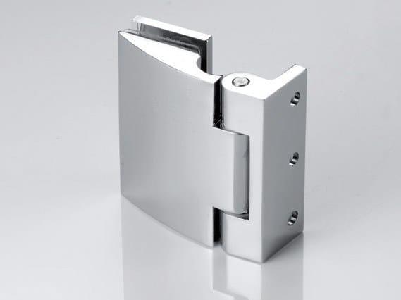 Zamak Shower door hinge B-105 by Metalglas Bonomi