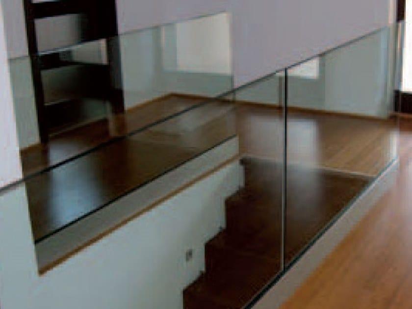 Balaustra con fissaggio a pavimento B-1101 by Metalglas Bonomi