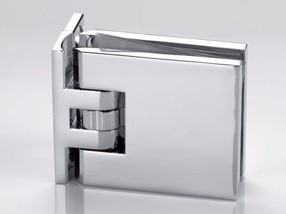 Zamak Shower door hinge B-301 by Metalglas Bonomi