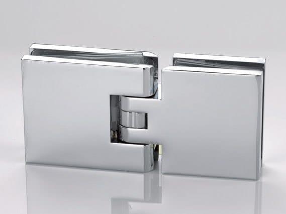Zamak Shower door hinge B-306 by Metalglas Bonomi