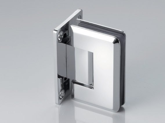 Zamak Shower door hinge B-400 by Metalglas Bonomi
