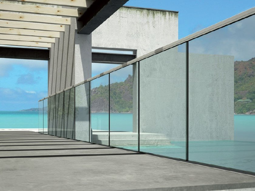 Adjustable railing system B-4050 MAXIMA by Metalglas Bonomi