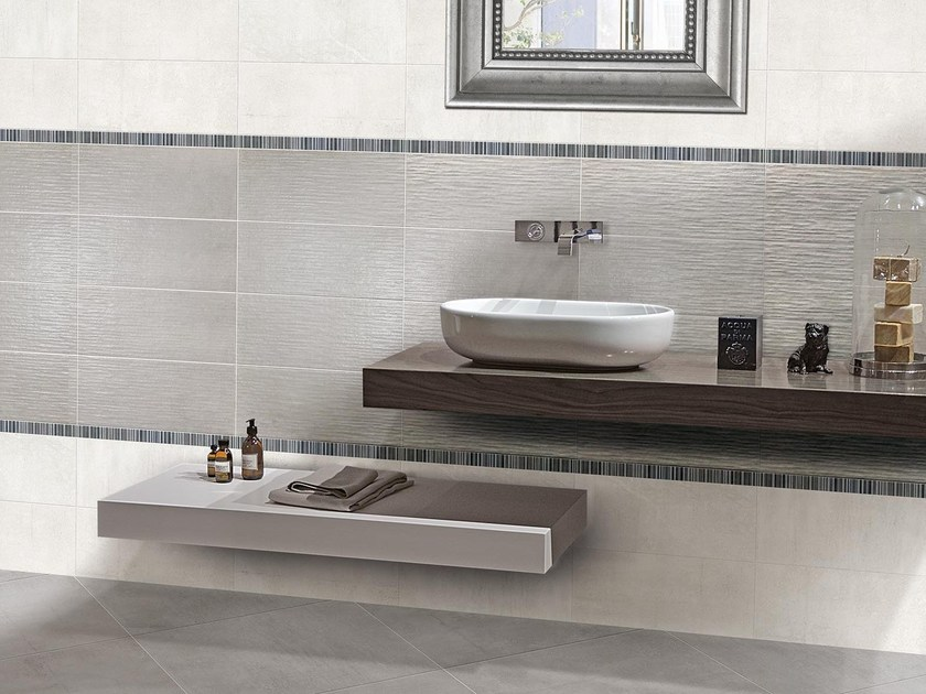 Indoor porcelain stoneware wall/floor tiles B-CONCRETE by CERAMICHE BRENNERO