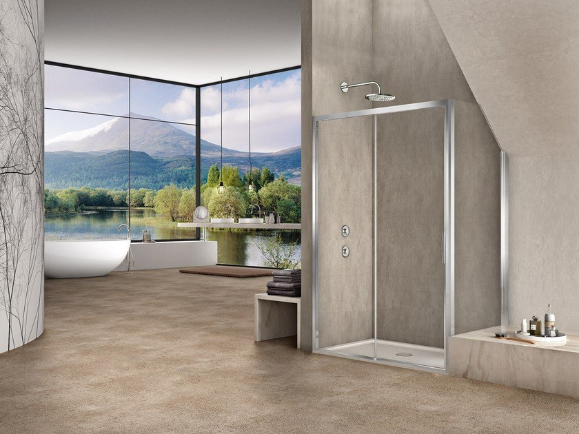 Corner rectangular shower cabin NATURA 4000 - A-S ST by Duka