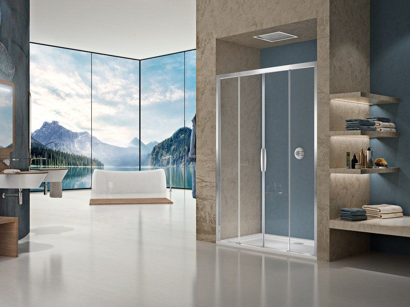 Niche shower cabin with sliding door NATURA 4000 - AR-ST4 by Duka