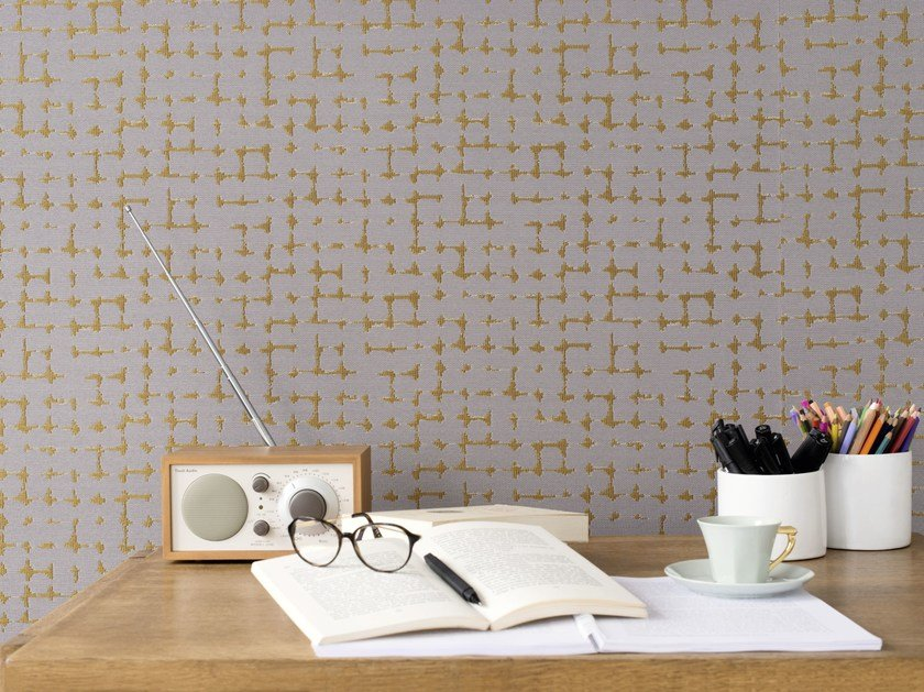 Ecological nonwoven wall tiles CAPRERA by Élitis