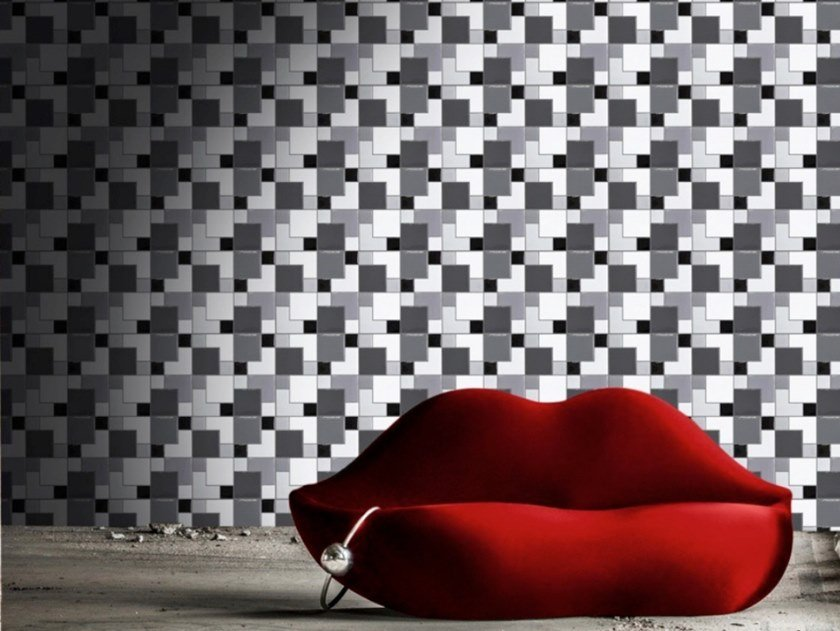 Indoor/outdoor polyurethane mosaic B-SQUARE by MyMosaic
