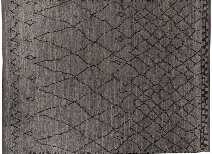 Long pile handmade wool rug B03160900   Rug by Mohebban