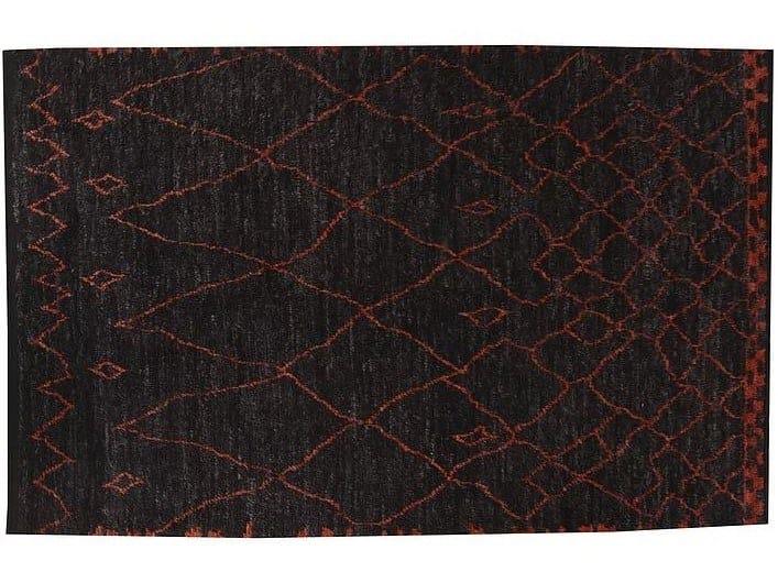 Long pile handmade wool rug B03900410 | Rug by Mohebban