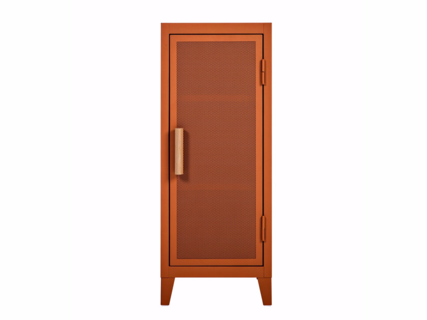 Metal highboard with doors B1 PERFORATED by Tolix