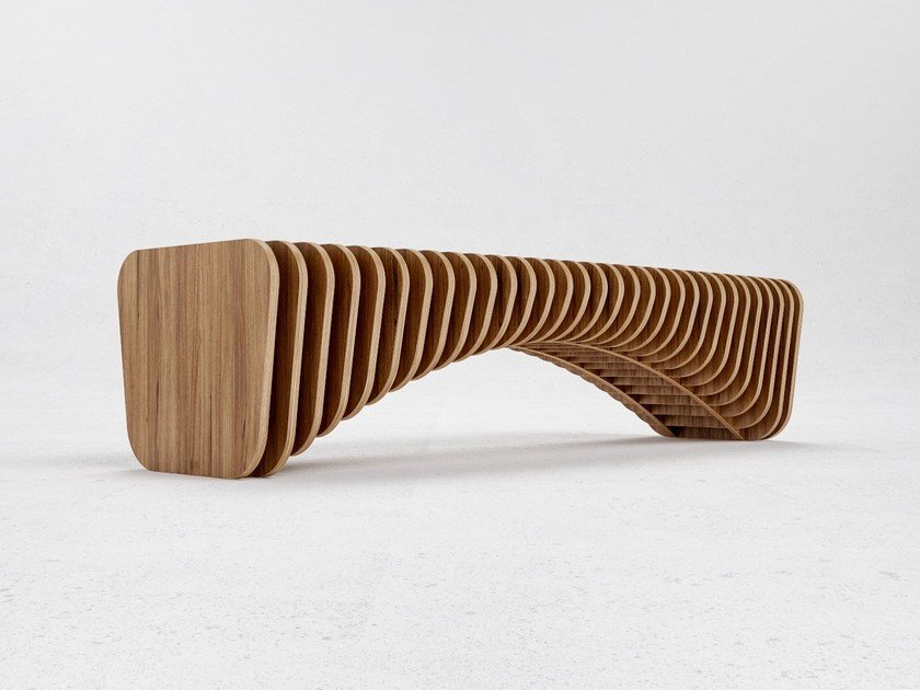 Wood veneer bench seating B1 by ODESD2