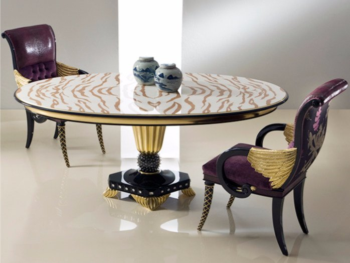 Lacquered oval living room table B110 | Table by Rozzoni