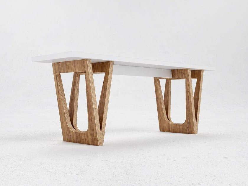 Wood veneer bench seating B2 by ODESD2