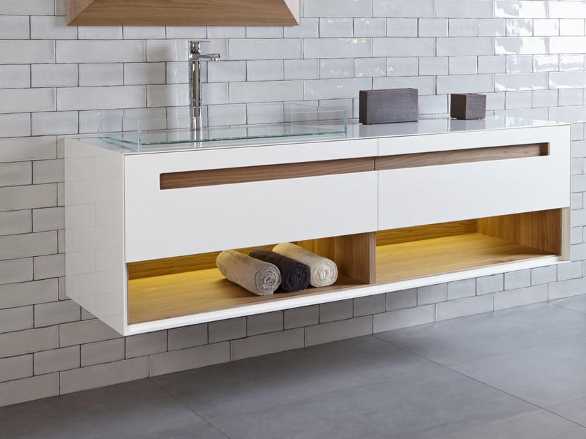Wall-mounted vanity unit B300 by Hönnun