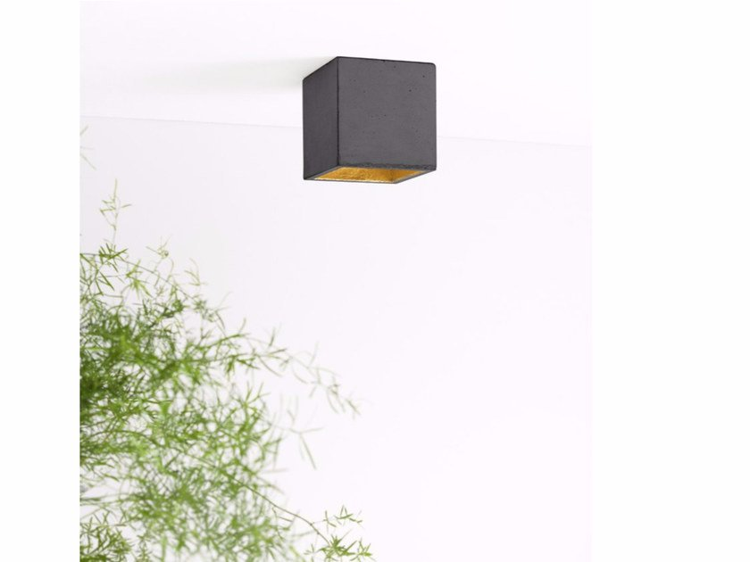 Direct light Concrete and Cement-Based Materials ceiling lamp [B7] DARK | Cement ceiling lamp by GANTlights