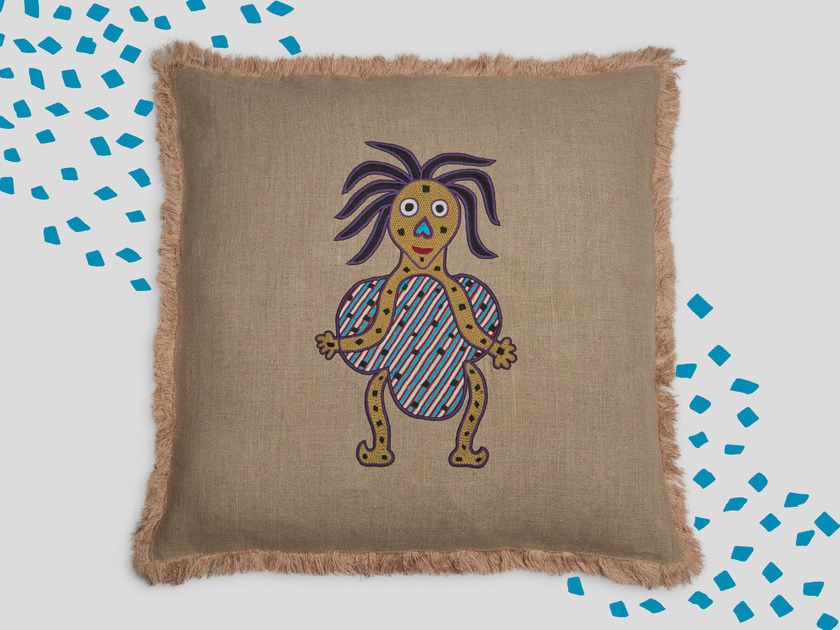 Hand embroidered cushion BAADALIKA by Jupe by Jackie