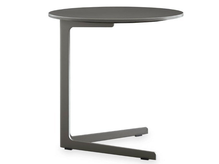 Lacquered round MDF side table BABA | MDF coffee table by poliform